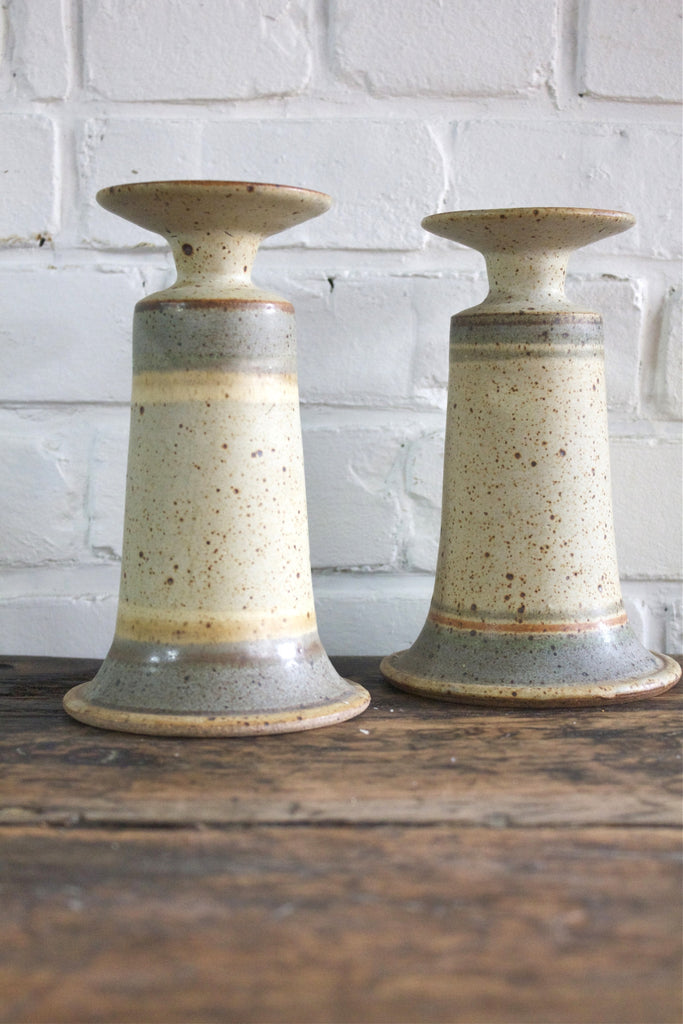 Pair of Vintage Ceramic Candlesticks