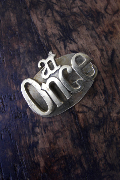 At Once Brass Clip - Diamonds & Rust