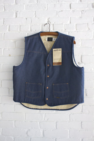 Dead Stock Roebuck Denim Vest