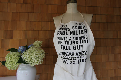 Vintage Saints & Sinners Apron - Diamonds & Rust