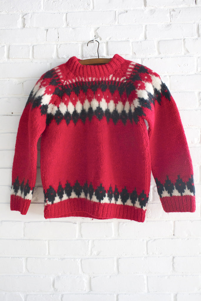 Vintage Handmade Wool Sweater