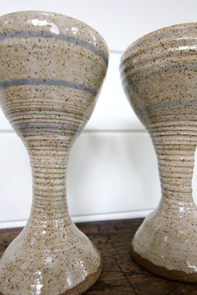 Handmade Ceramic Cups - Diamonds & Rust