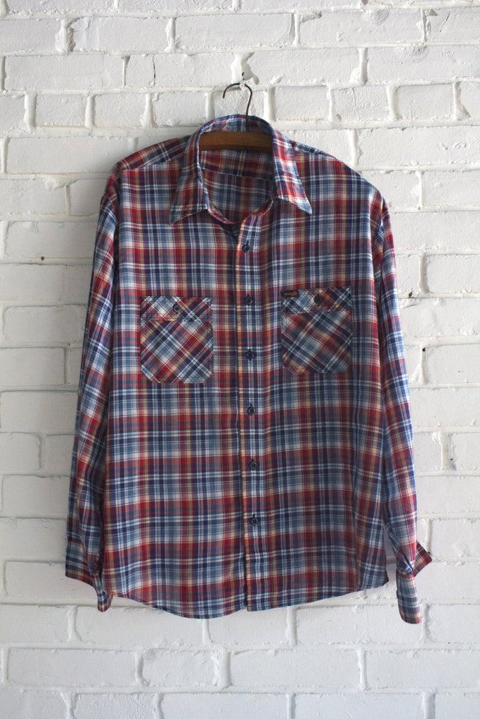 1970s Wrangler Plaid Shirt