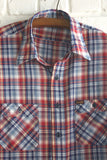 1970s Wrangler Plaid Shirt - Diamonds & Rust