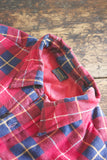 Vintage Red and Navy Flannel