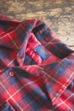 Vintage Pendleton Red and Navy Shirt - Diamonds & Rust