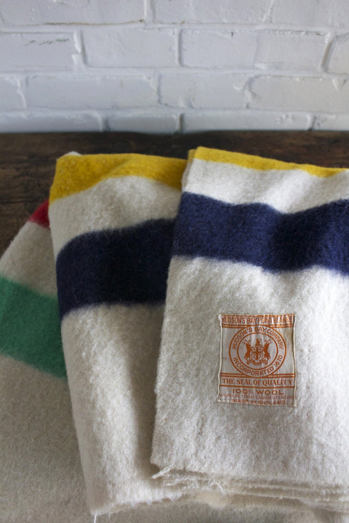 Vintage Hudson's Bay 4 Point Blanket