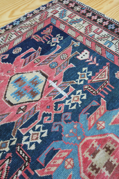 20s Caucasian Shirvan Hand Woven Rug - Diamonds & Rust
