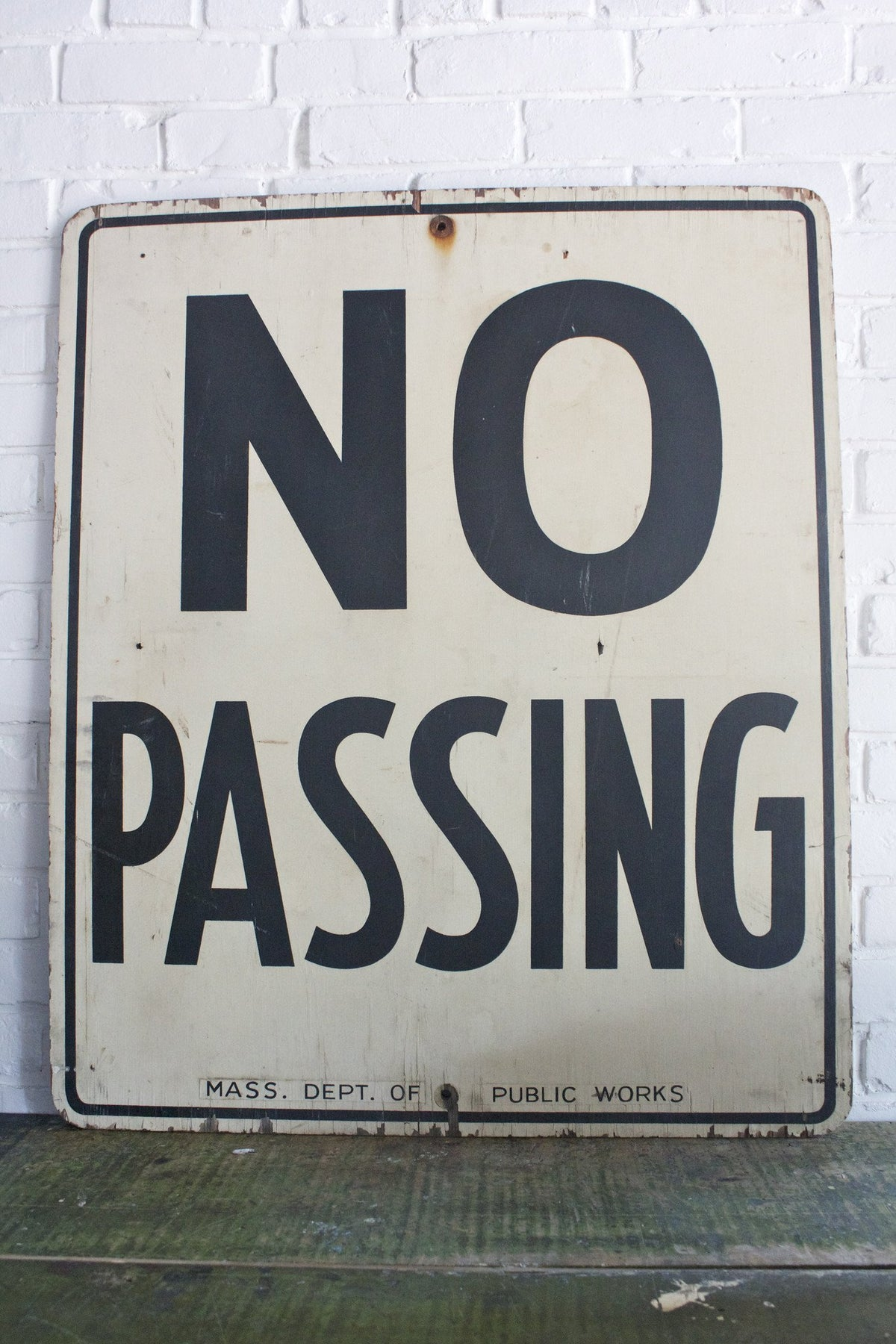Vintage Wood No Passing Sign - Diamonds & Rust