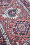 40s Persian Scatter Rug - Diamonds & Rust