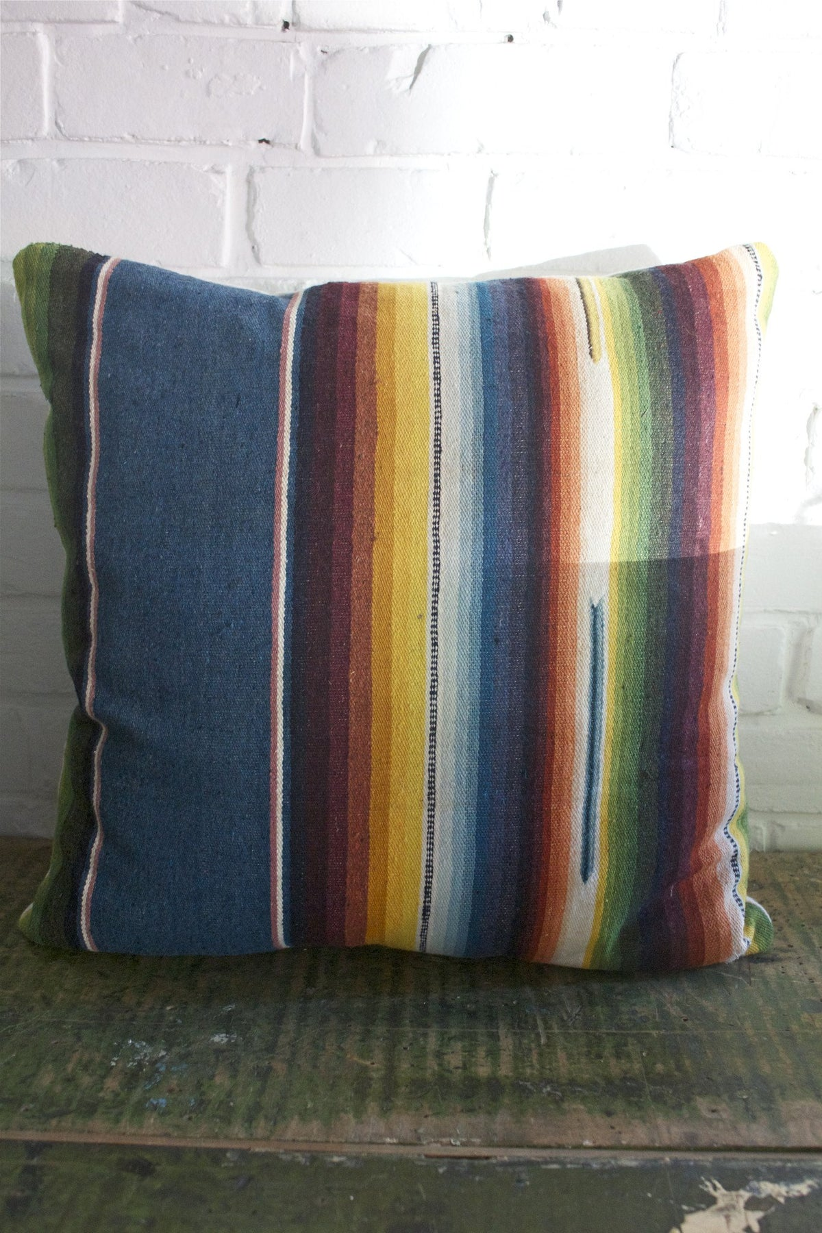 "D&R Mexican Serape Pillow: 18"" - Diamonds & Rust"