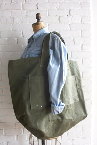 D&R Handmade Oversized Canvas Tote Bag