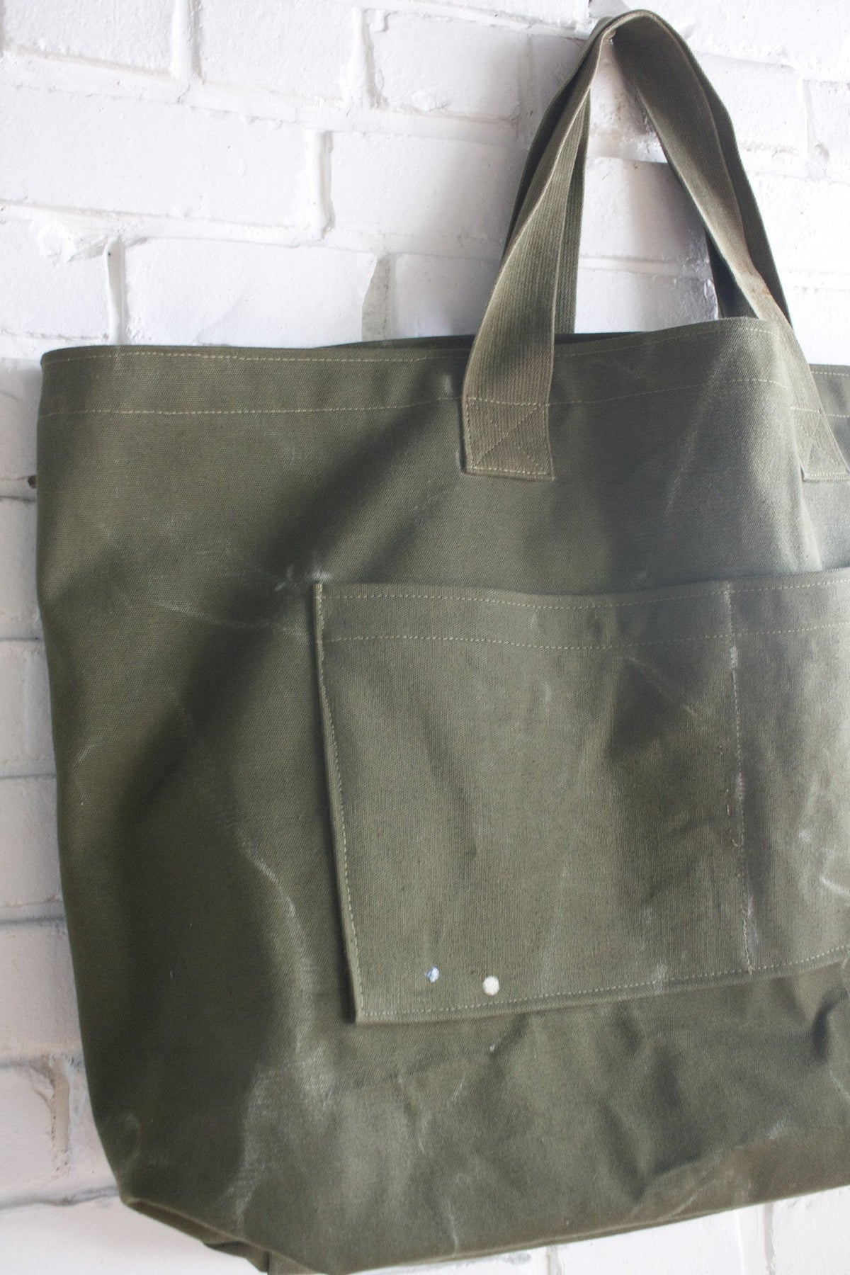 D&R Handmade Oversized Canvas Tote Bag - Diamonds & Rust