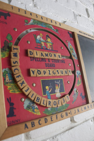1950s Spelling and Counting Board