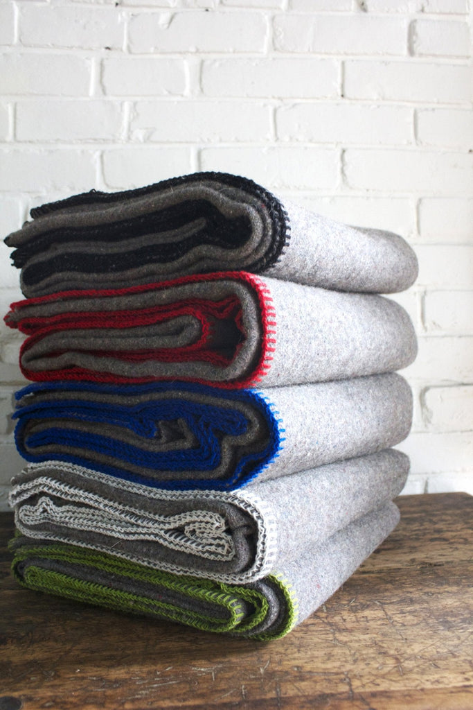 Faribault Recycled Wool Throw
