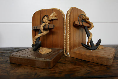 Anchor Bookends - Diamonds & Rust