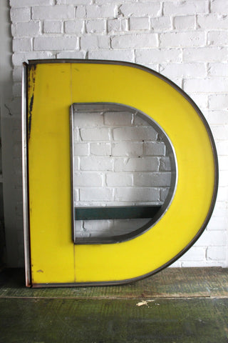 Salvaged Letter D