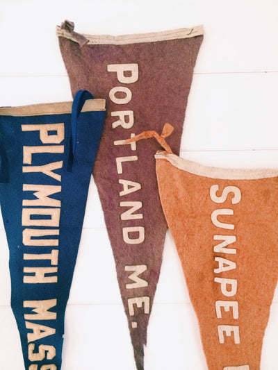 1920s Portland ME Pennant - Diamonds & Rust