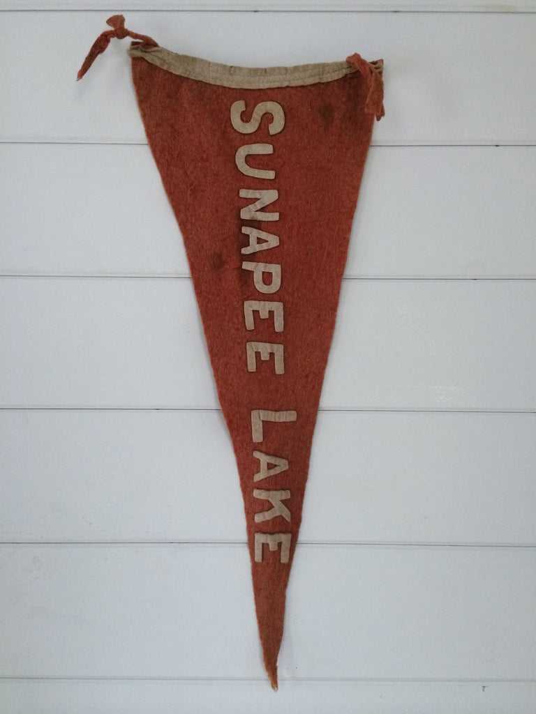 1920s Sunapee Lake NH Pennant