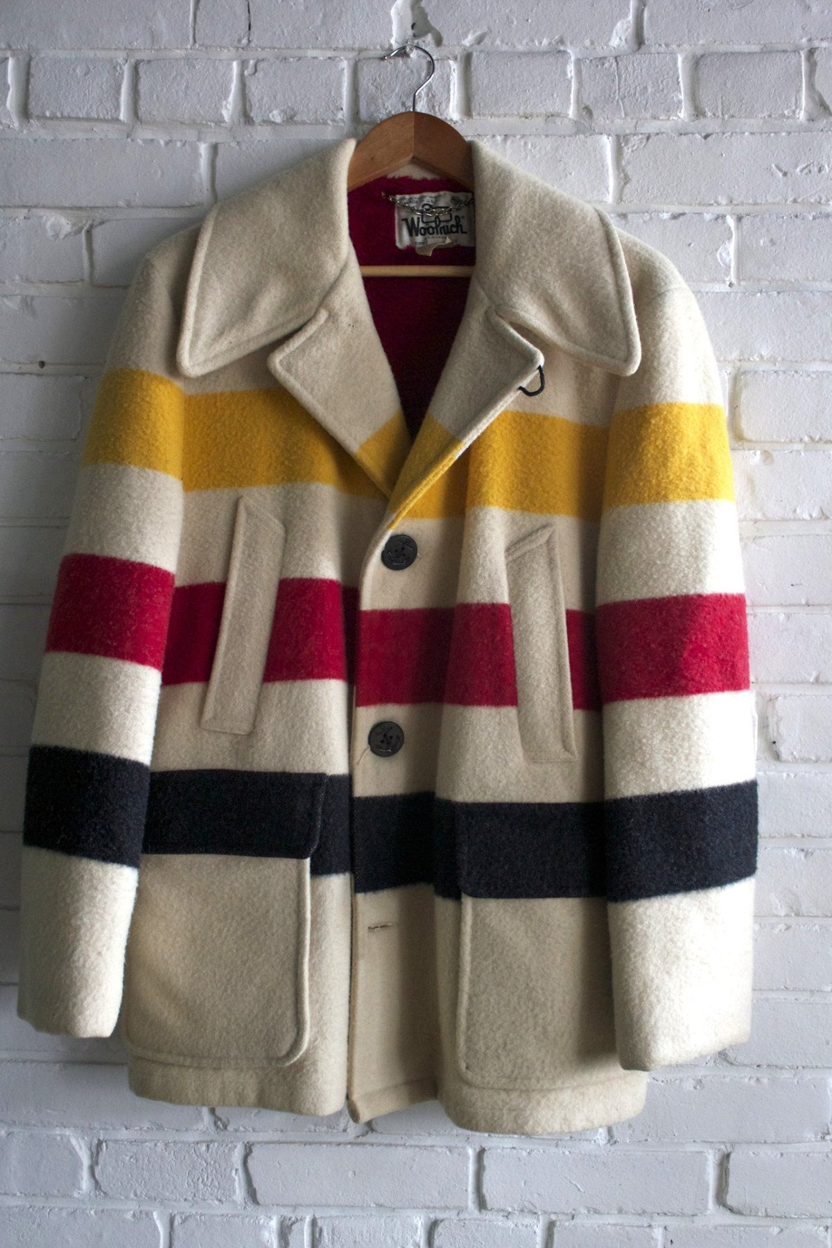 Vintage Woolrich Peacoat - Diamonds & Rust