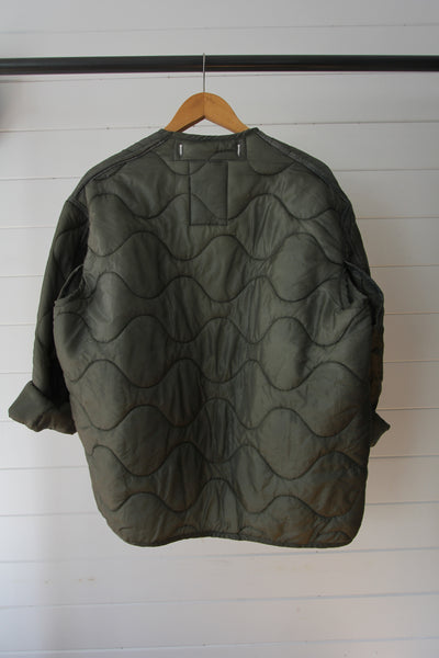 Vintage Quilted Liner Coat - Medium