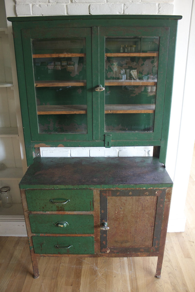 Antique Apothecary Display Cabinet - Diamonds & Rust