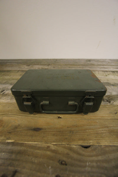 First Aid Army Green Metal Box