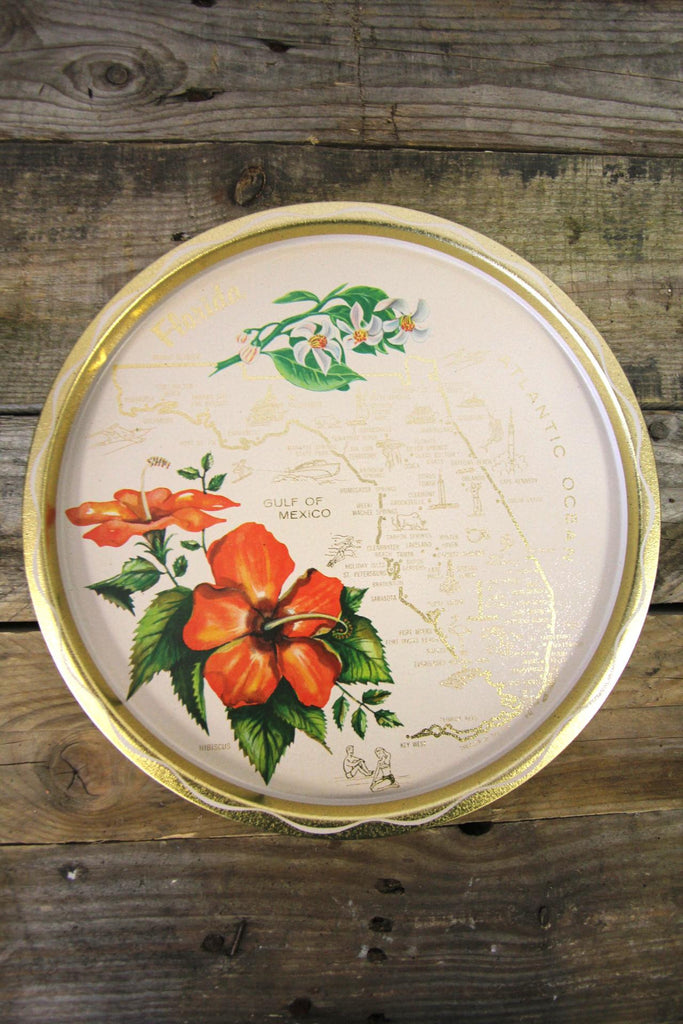 Florida White Serving Tray