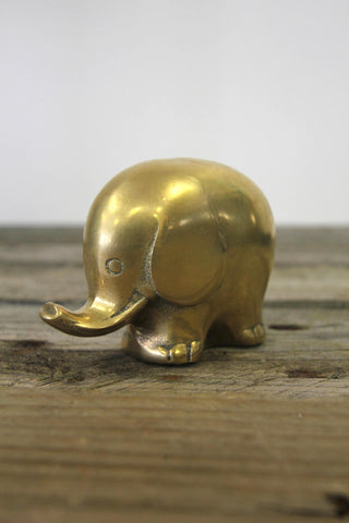 Brass Elephant Figurine