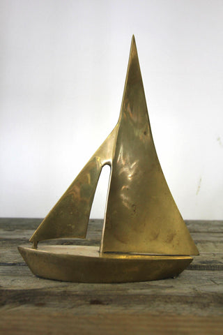 Brass Sailboat Figurine