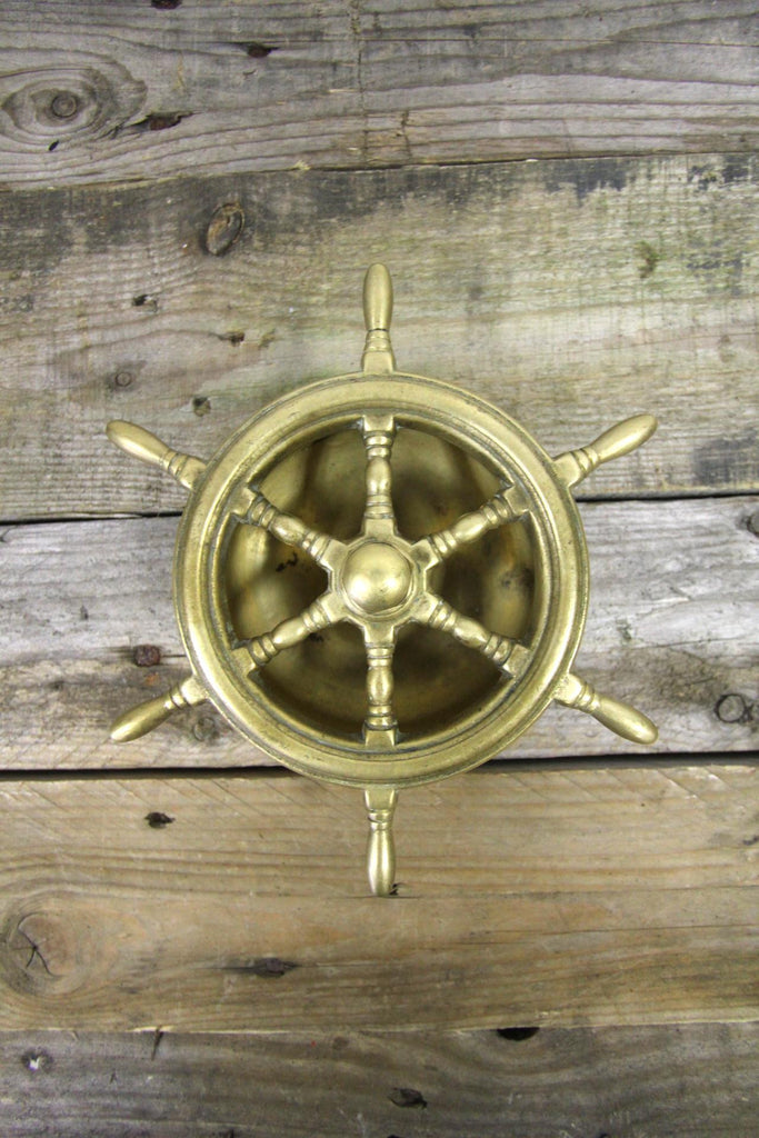 Brass Ship Wheel Ashtray