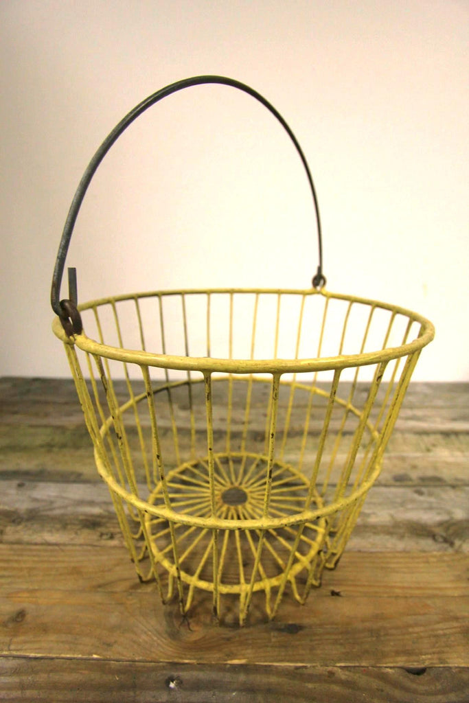 Yellow Wire Egg Basket