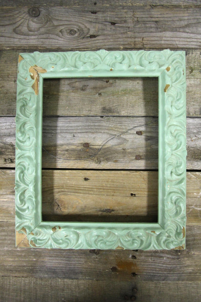 Mint Distressed Frame