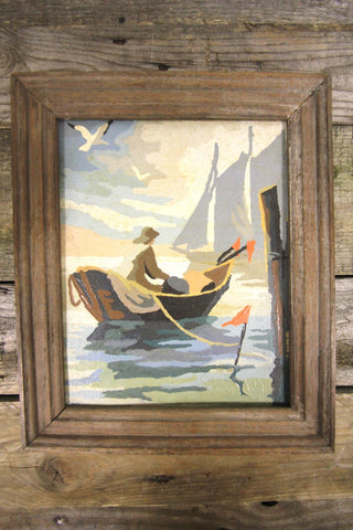 "Paint By Numbers ""Man In Boat"" 1"
