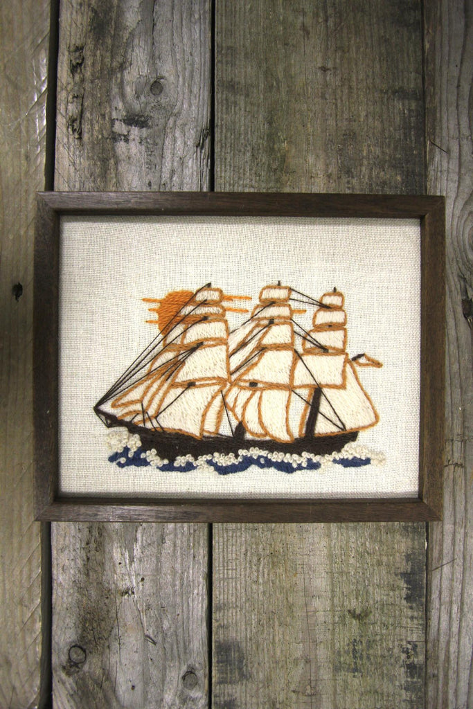 Needlepoint Tall Ship Art