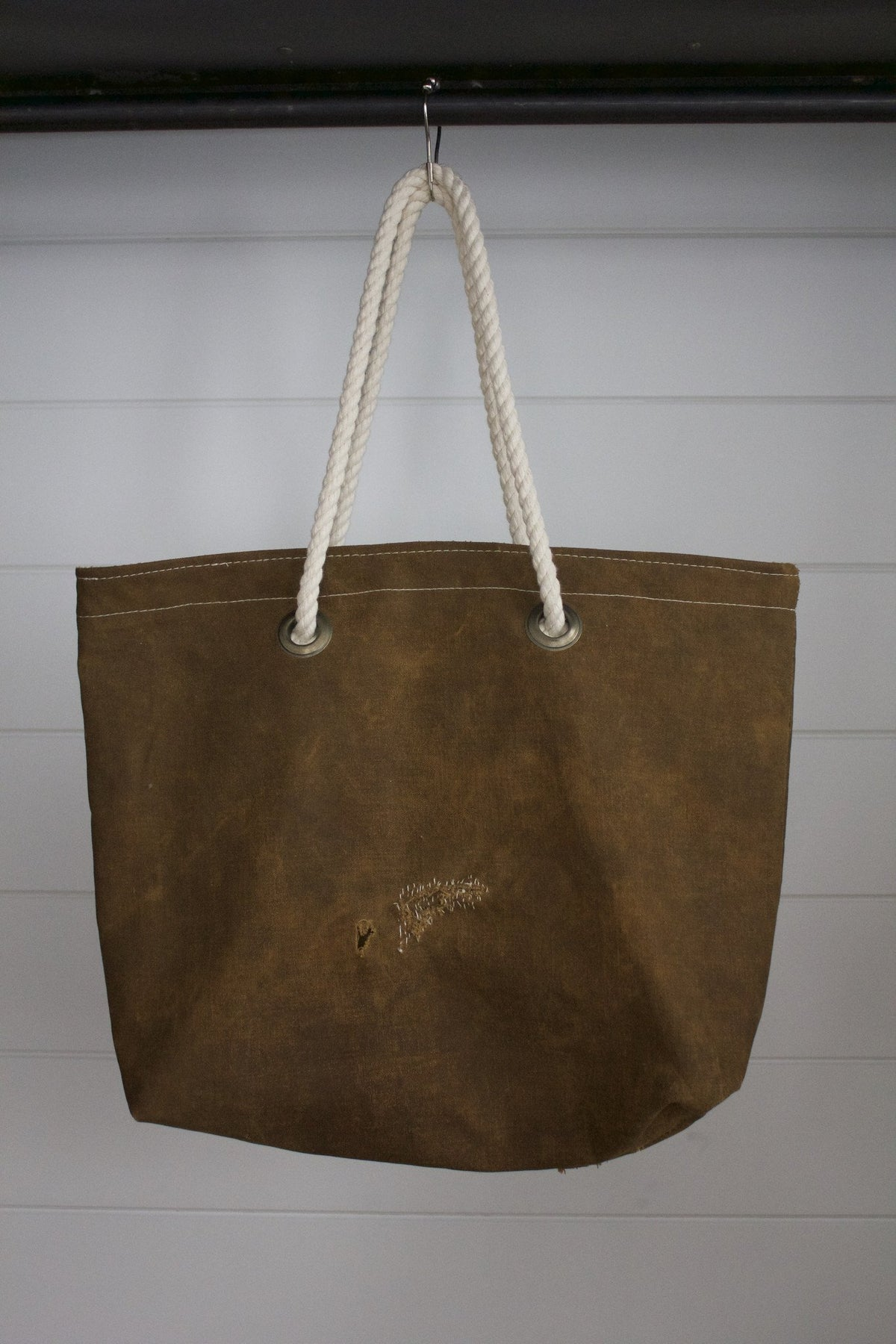 Simple Canvas Tote 02 - Diamonds & Rust