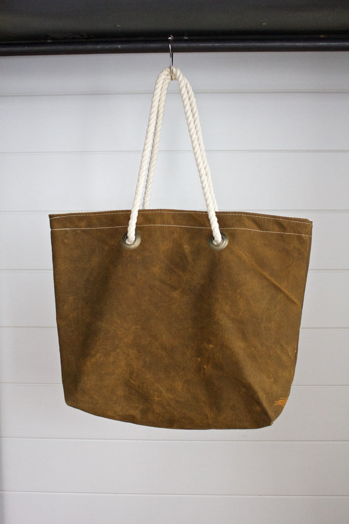 Simple Canvas Tote 04 - Diamonds & Rust