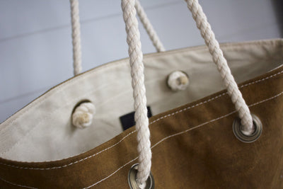 Simple Canvas Tote 03 - Diamonds & Rust