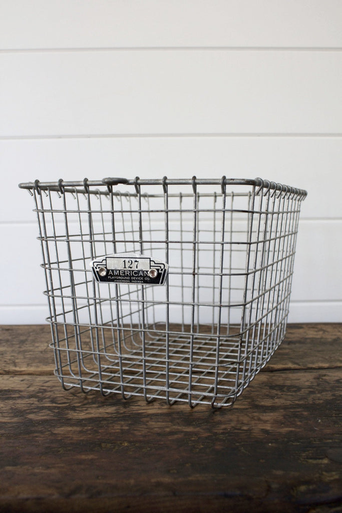 Vintage Locker Basket