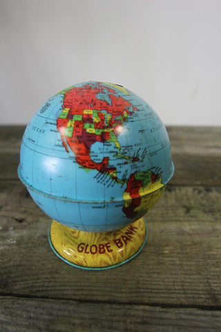 Globe Bank Light Wood Base