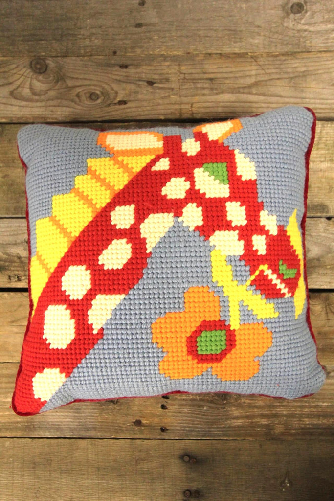 Bargello Giraffe Pillow