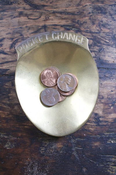 Brass Pocket Change Holder - Diamonds & Rust