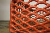 Orange Coated Metal Basket