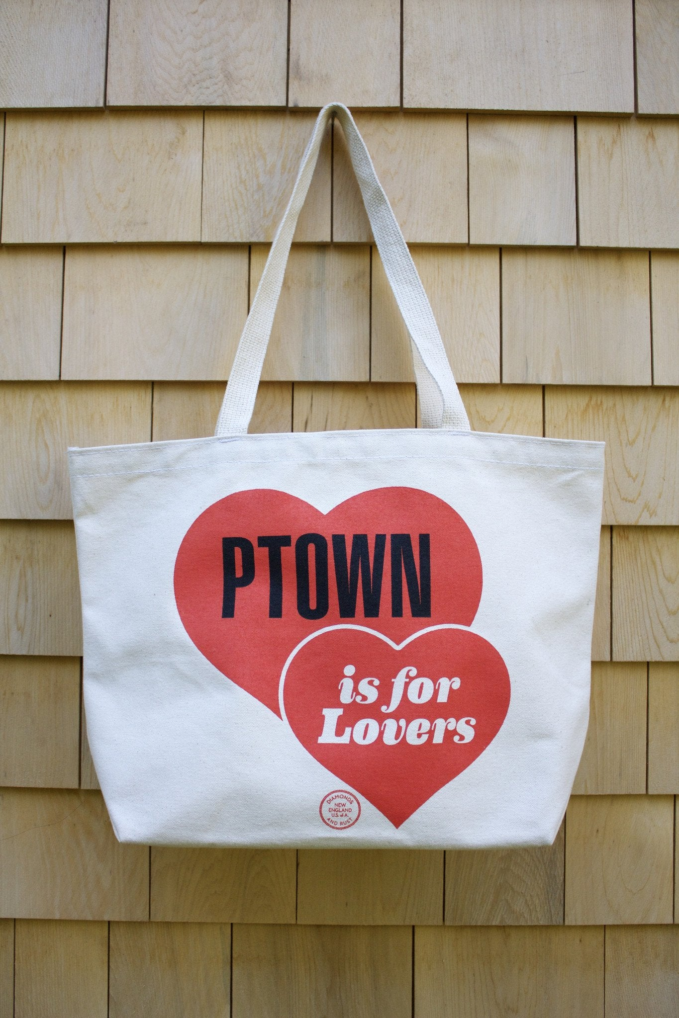 "Diamonds and Rust ""PTown is for Lovers"" Tote Bag - Diamonds & Rust"