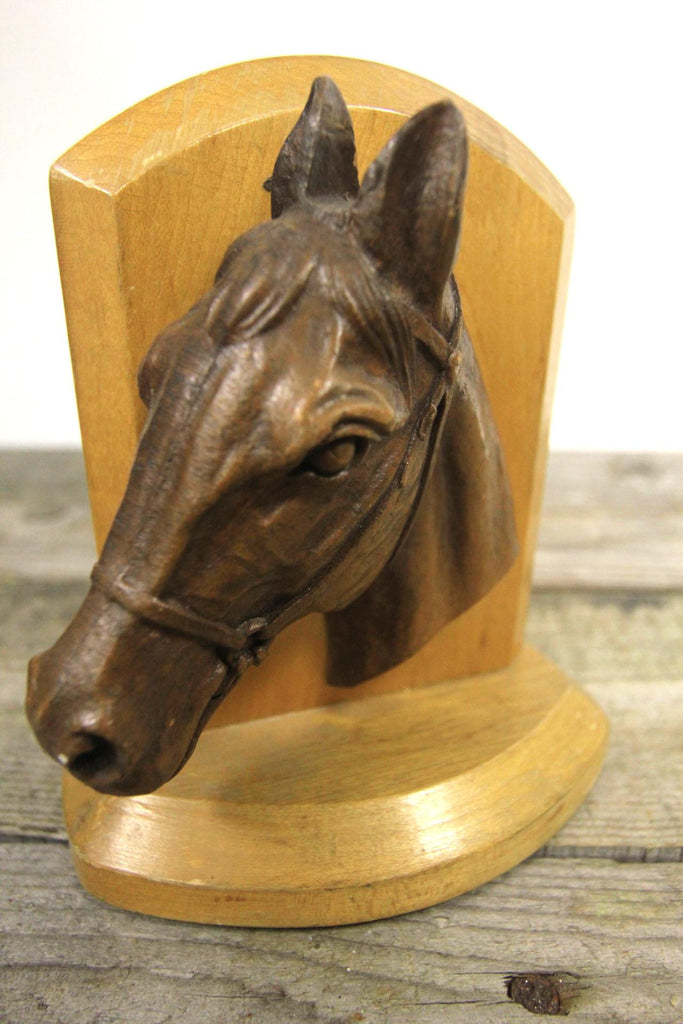 Syroco Wood Horse Bookends