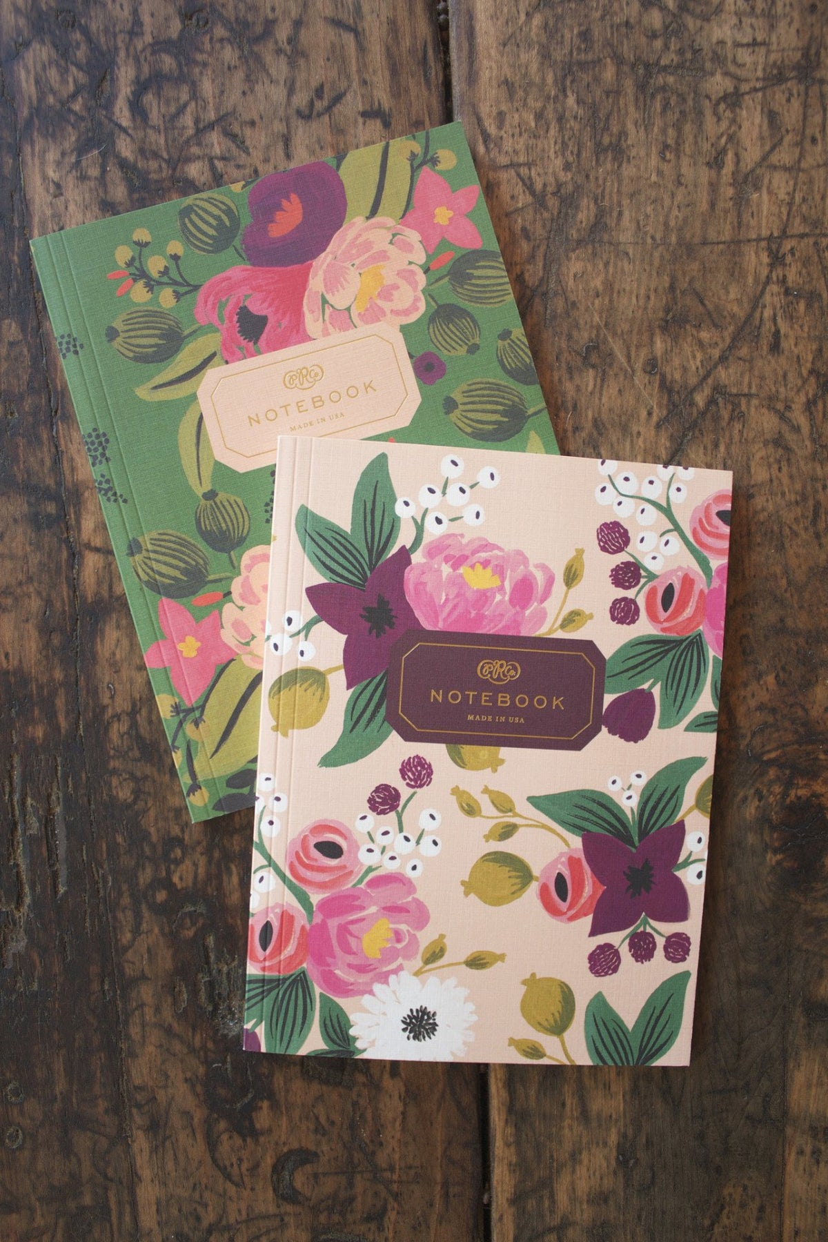 Vintage Blossom Notebook - Diamonds & Rust