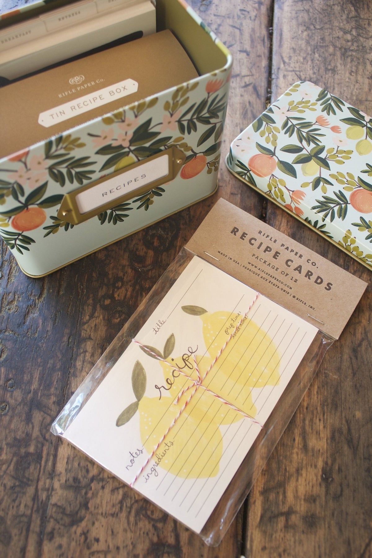 Floral Recipe Box - Rifle Paper Co. - Diamonds & Rust