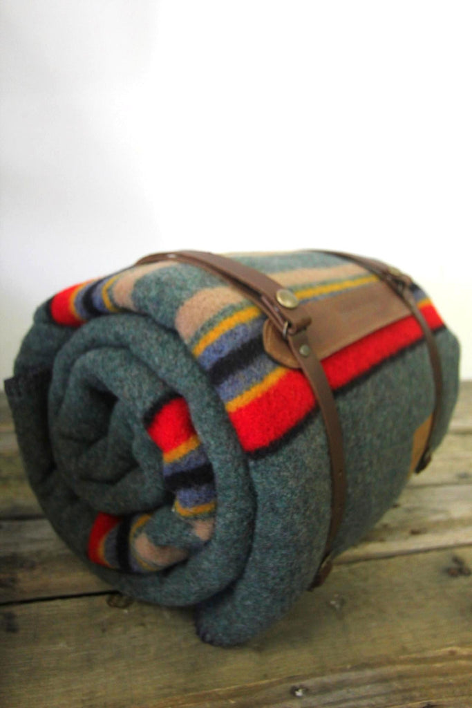 Pendleton Camp Blanket With Leather Strap