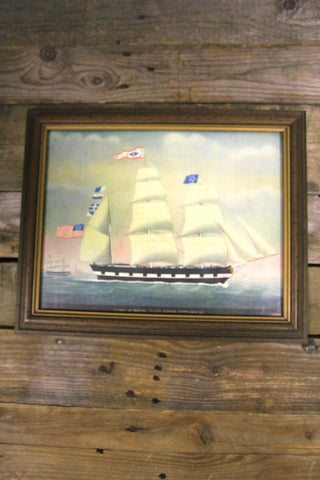 Saxony of Boston Tall Ship Print by Petrus Weyts