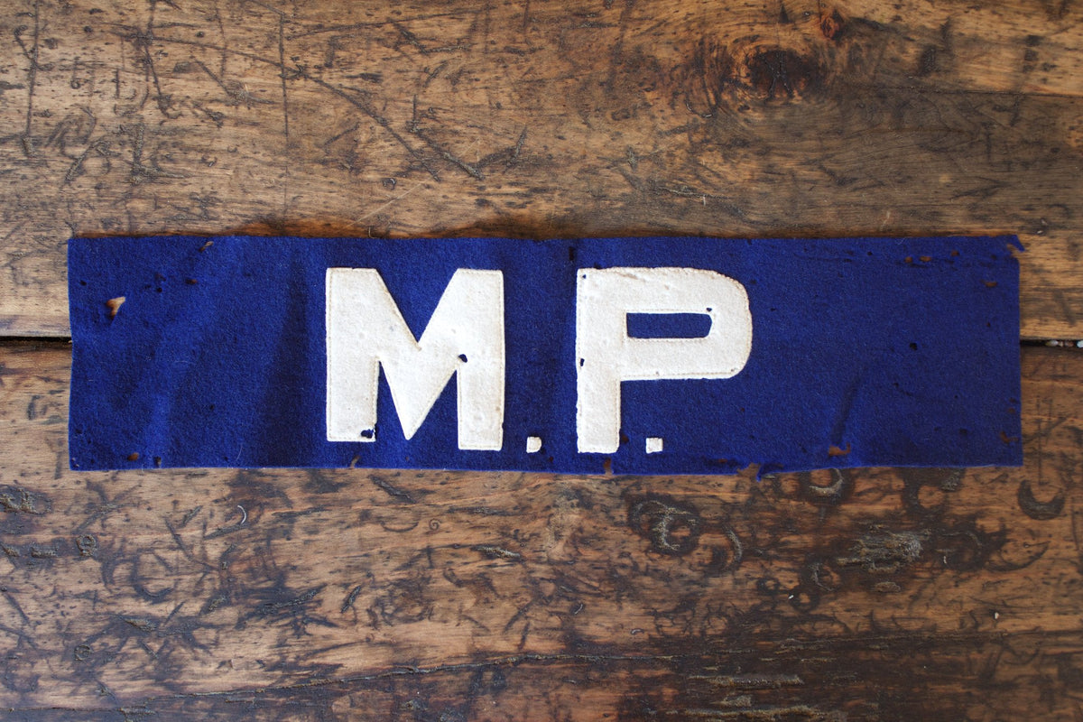 Vintage US Army MP Armband - Diamonds & Rust